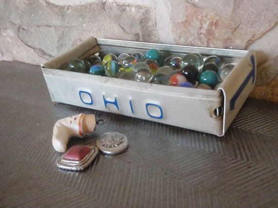 This rustic tray is made from a vintage recycled Ohio license plate.