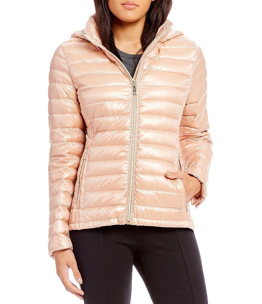 Blush Calvin Klein Horizontal Puffer Packable Down Jacket Calvin Klein Women S Clothing Clothes For Women Calvin Klein [ 1020 x 880 Pixel ]