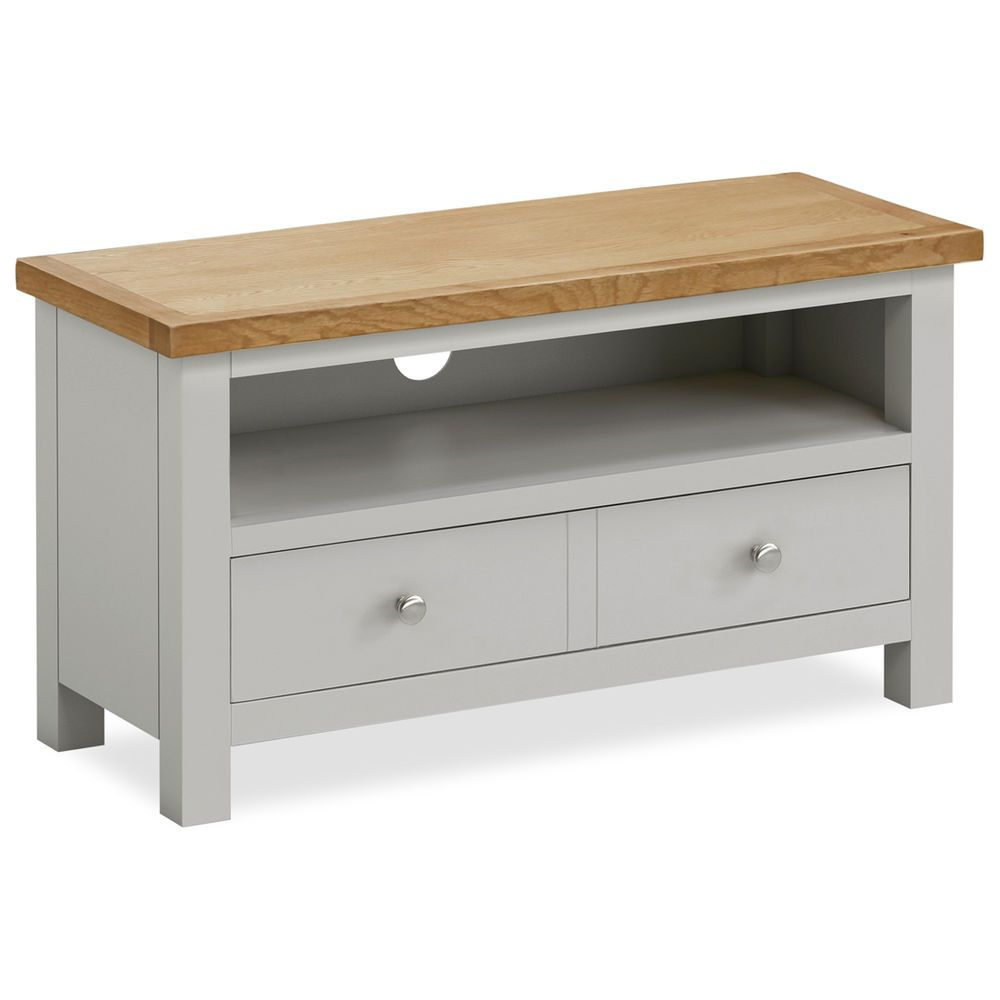 Farrow Painted Tv Stand Small Stone Grey Painted Tv Unit With  # Meuble Tv Stone