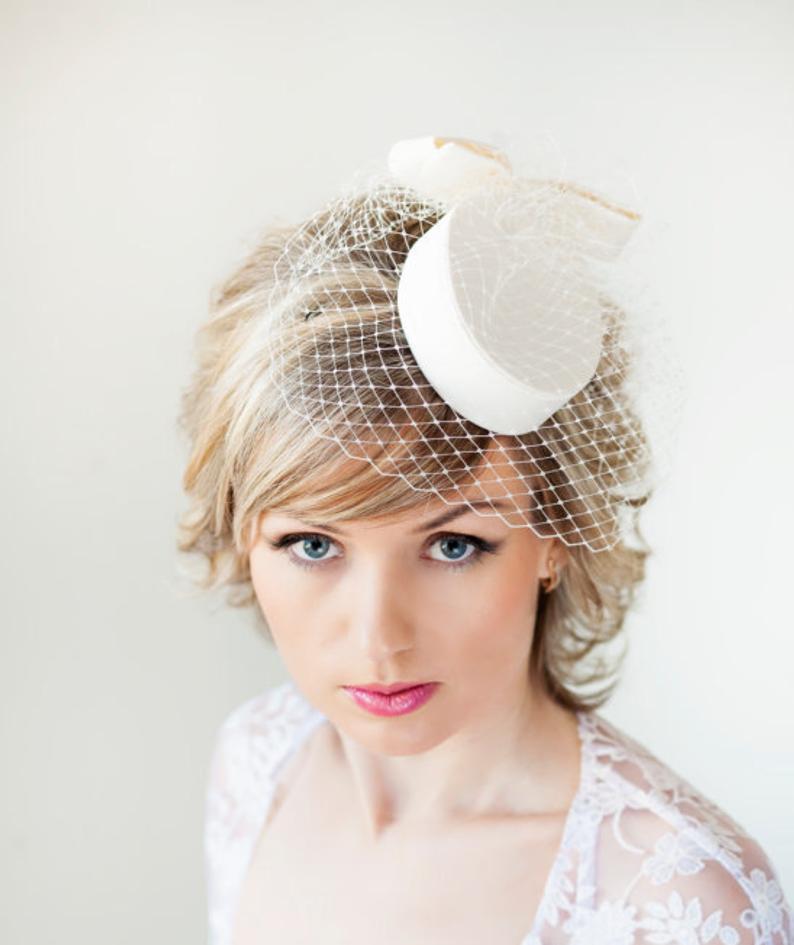 FS Ladies Wool Cocktail Hat Wedding Fascinator Hats For
