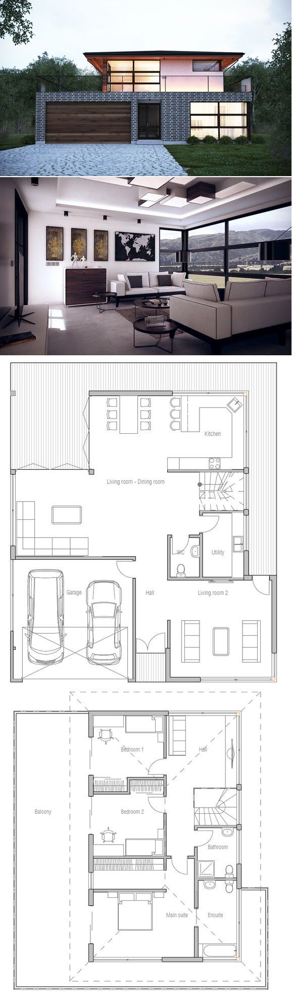Hauspläne modern  Hausplan, TOP 20 Hauspläne | Grundrisse | Pinterest | House ...