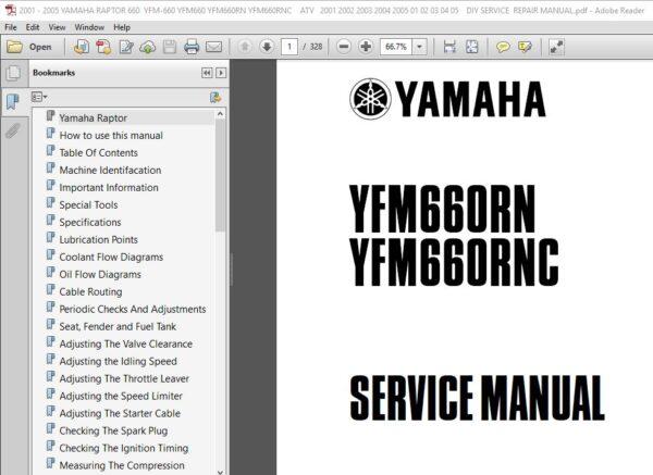 2001 2005 Yamaha Raptor 660 Yfm 660 Yfm660 Yfm660rn Yfm660rnc Service Repair Manual Ignition Timing Repair Manuals Repair