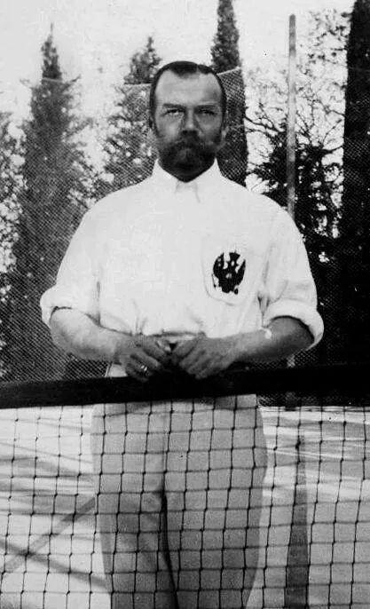 Tsar Nicholas ll of Russia at tennis.A♥W