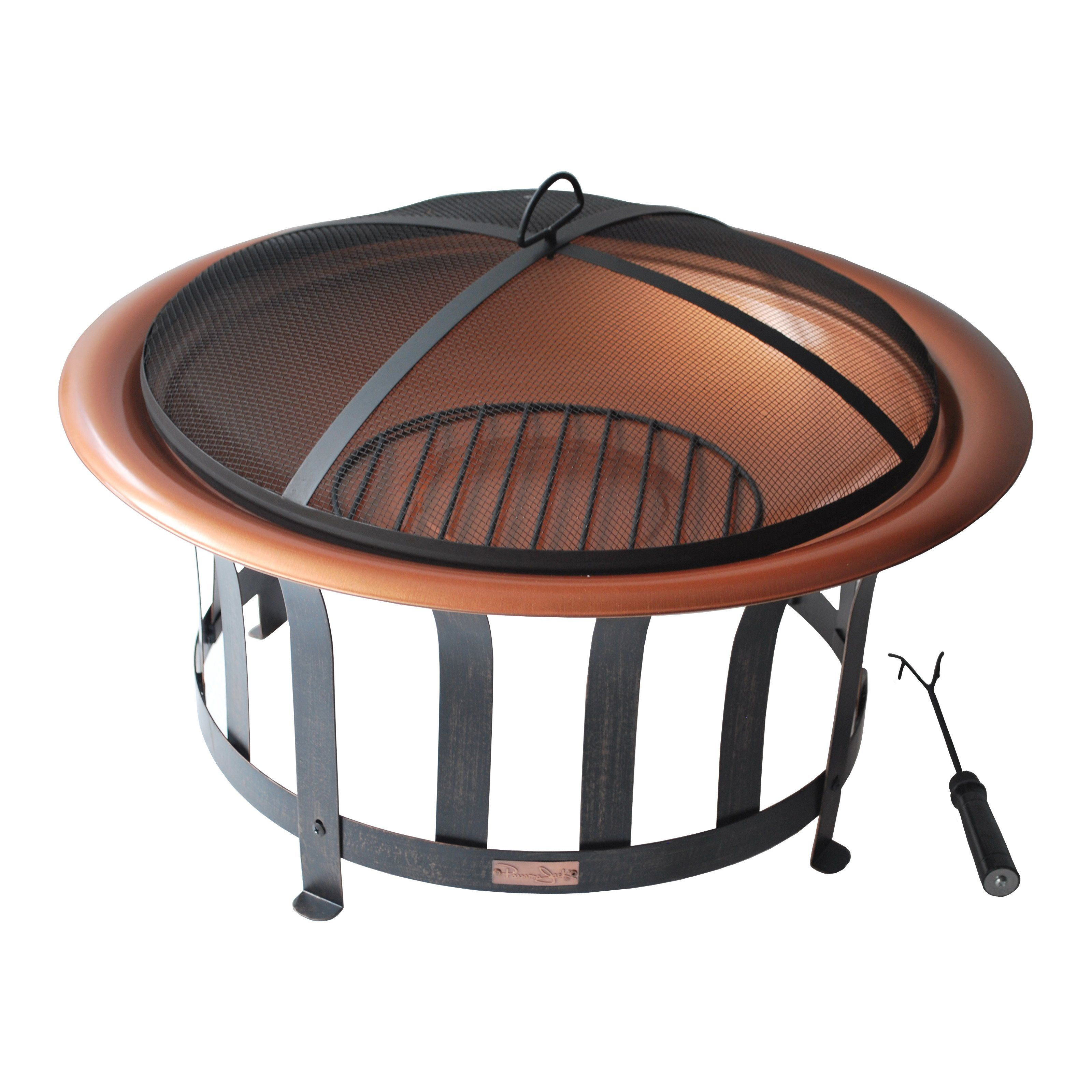 Have To Have It Panama Jack Round 30 In Copper Fire Pit With Metal Base Black 210 00 Fire Pit Copper Fire Pit Portable Fire Pits