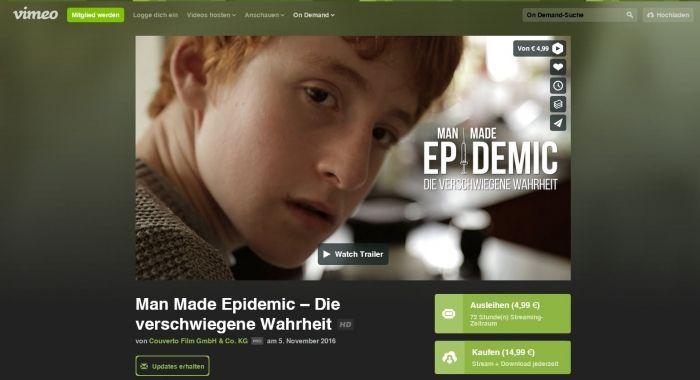"""""""Man Made Epidemic – die verschwiegene Wahrheit"""" endlich in Deutsch verfügbar!"""