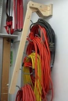Extension cord organizer plan/power cord holder pl