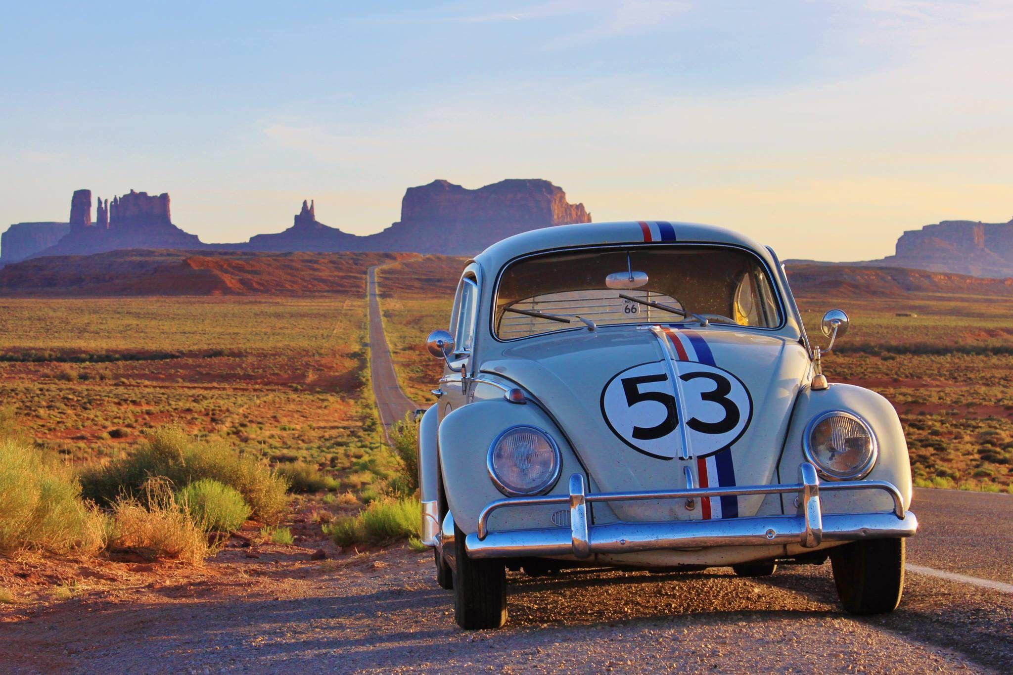 Herbie In Route66 Vw Beetle Classic Volkswagen Beetle European Cars [ 1365 x 2048 Pixel ]