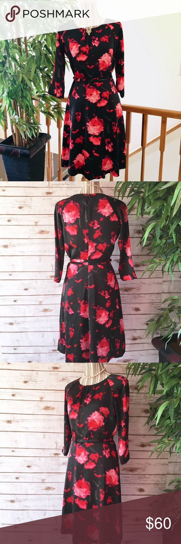 Clements Ribeiro Black Floral Dress Size Small Floral Dress Black Dresses Floral Dress [ 1740 x 580 Pixel ]