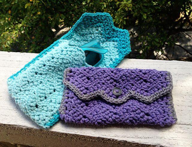 Free Crochet Chevron Glasses Case | 2-crochet | Pinterest ...