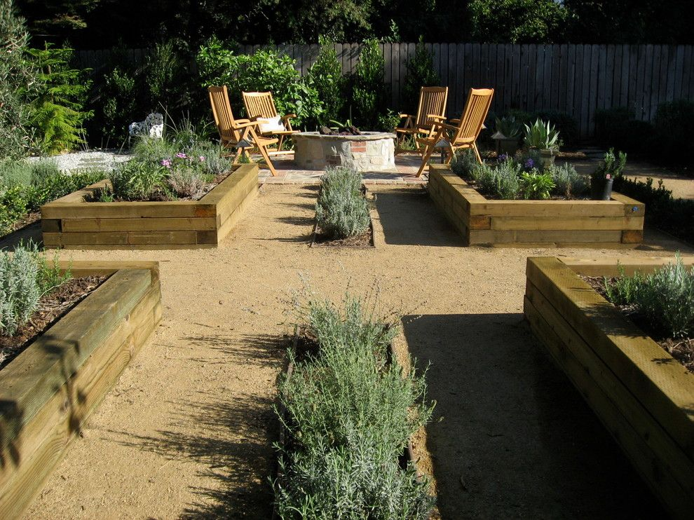 Marvelous Railroad Ties Vogue Los Angeles Contemporary Landscape Innovative  Designs With Edible Garden Fence Firepit Herb