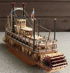 artesania latinas 180 scale riverboat paddle steamer king of the mississippi - Bateau Mississipi