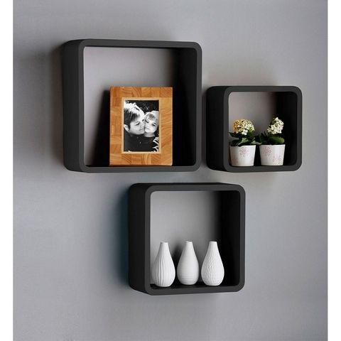 Black Wall Shelves black wall cube shelves for cds/dvds | mi casa es su casa
