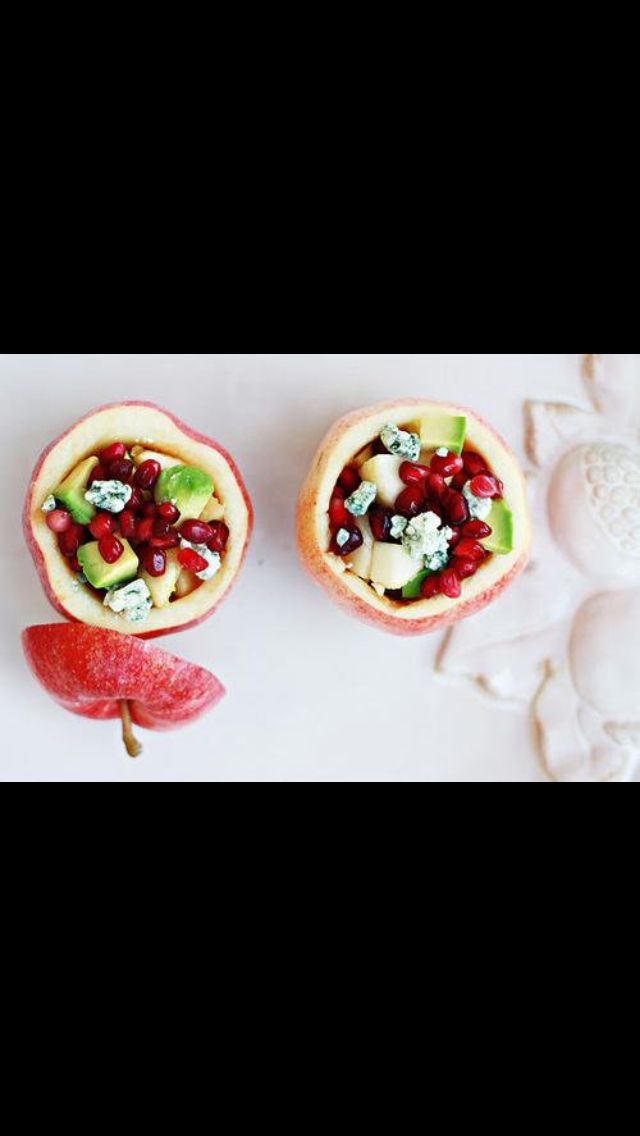 Apple and Pomegranate fruit bowls