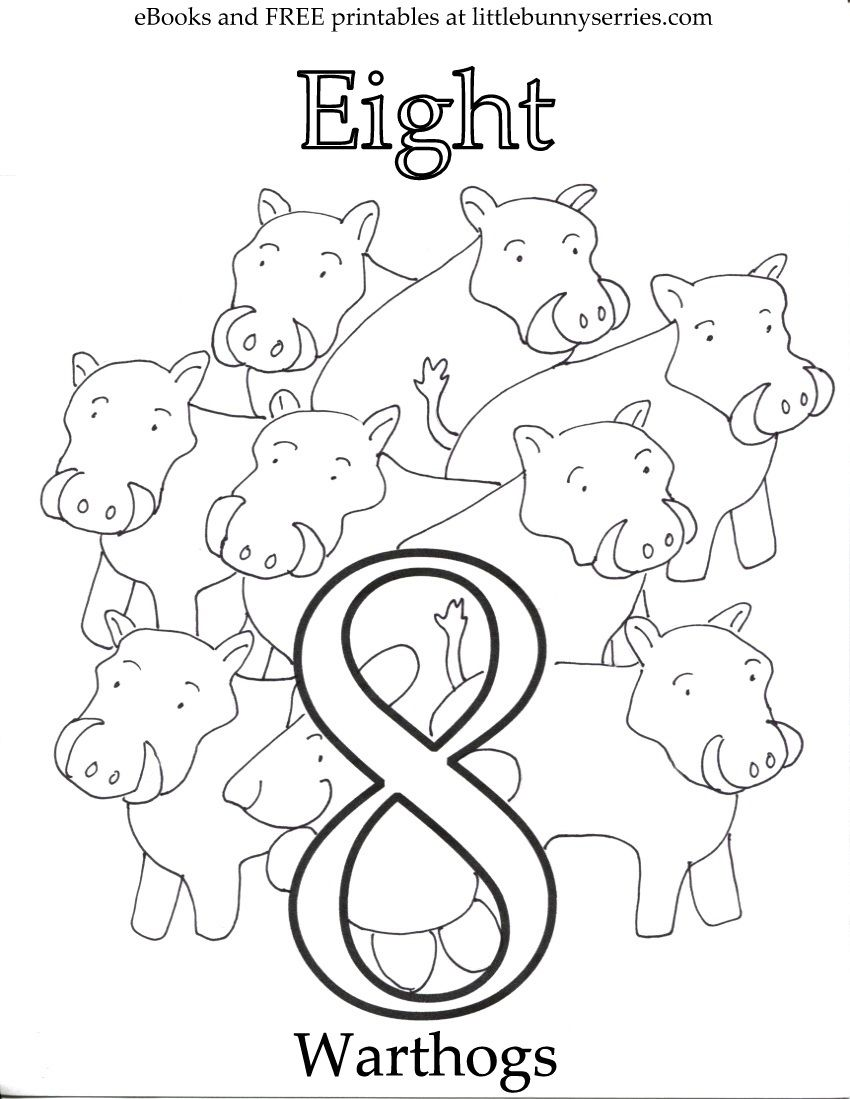 Numbers Coloring Page Pdf