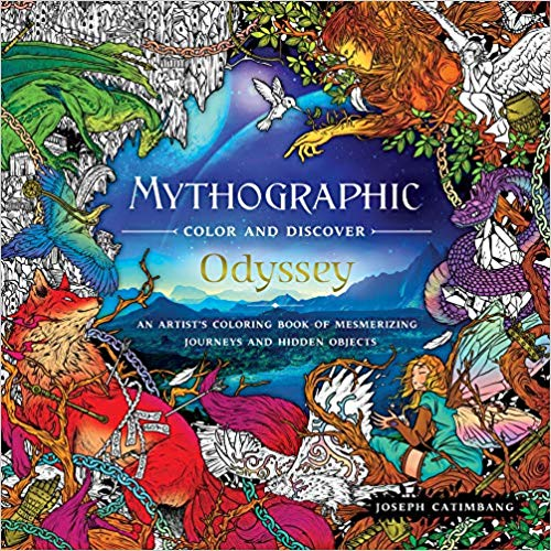 Amazonsmile Mythographic Color And Discover Odyssey An Artist S Coloring Book Of Mythic Journeys And Hidden Objects Coloring Books Books Words Coloring Book