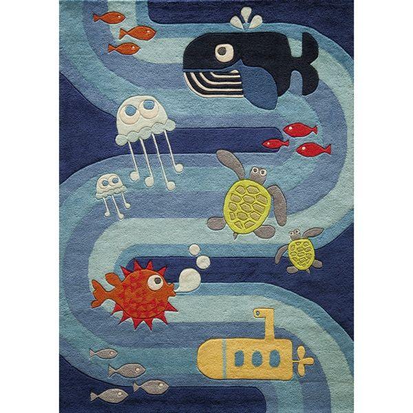 Momeni Lil Mo Ocean Life Blue Rug 8