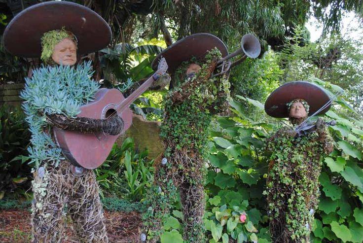 Musicos macetas Maceteros reciclados, Jardines