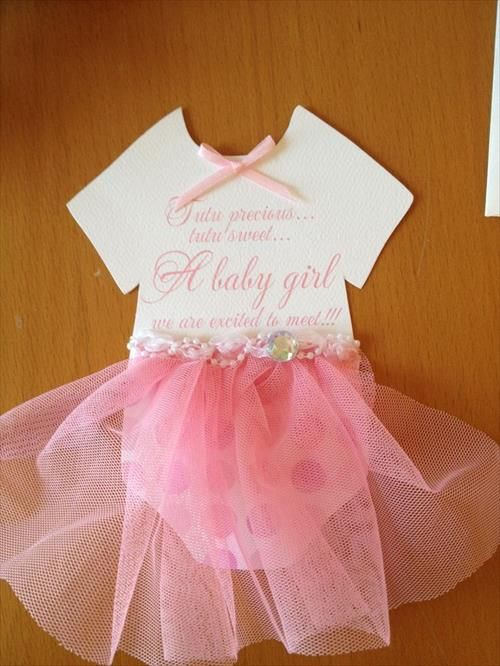 Love This Tutu Invite For A Tutu Cute Baby Shower Theme For Little Girls