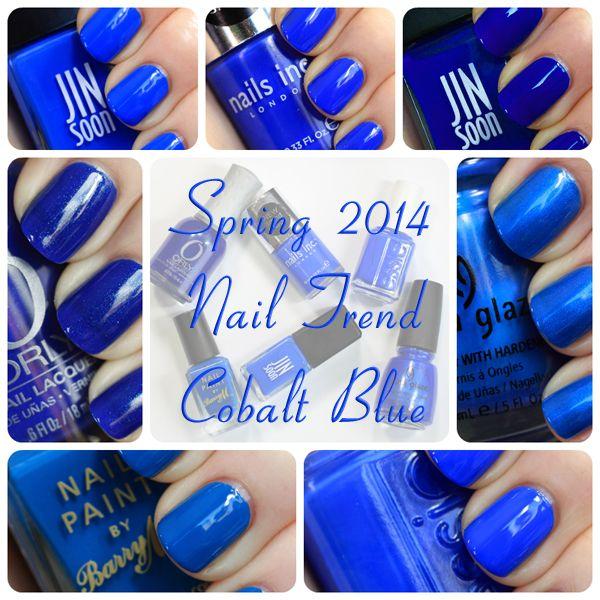 Spring 2014 Nail Trend - Cobalt Blue Nail Polish