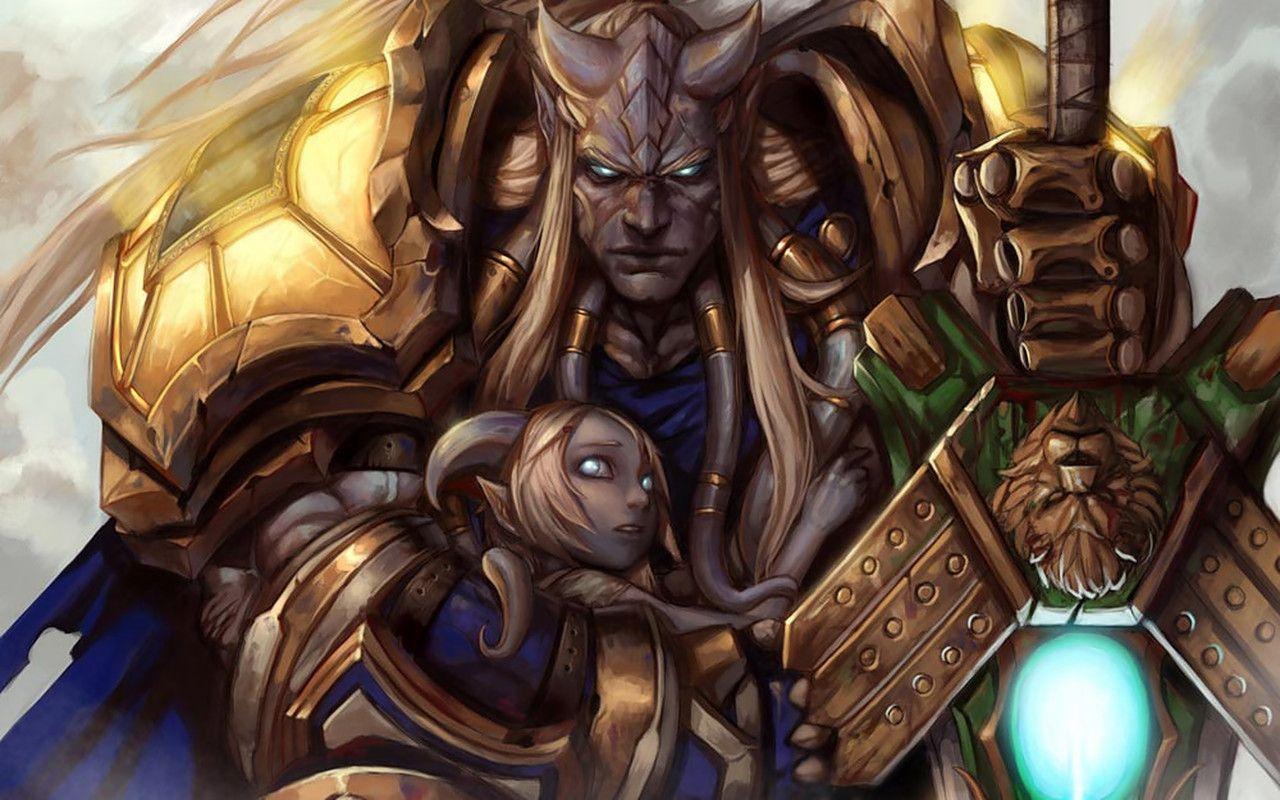 Protector Of The Innocent Warcraft Art World Of Warcraft Draenei Paladin
