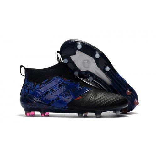 new product b9a76 3d290 2017 Adidas ACE 17+ Purecontrol FG Botas De Futbol Blanco Dragon Azul Negro