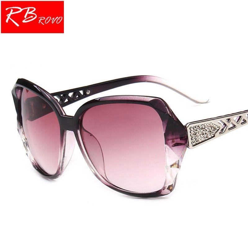 7964b146c46 RBROVO 2018 Vintage Big Frame Sunglasses Women Brand Designer Gradient Lens  Driving Sun glasses UV400 Oculos De Sol Feminino