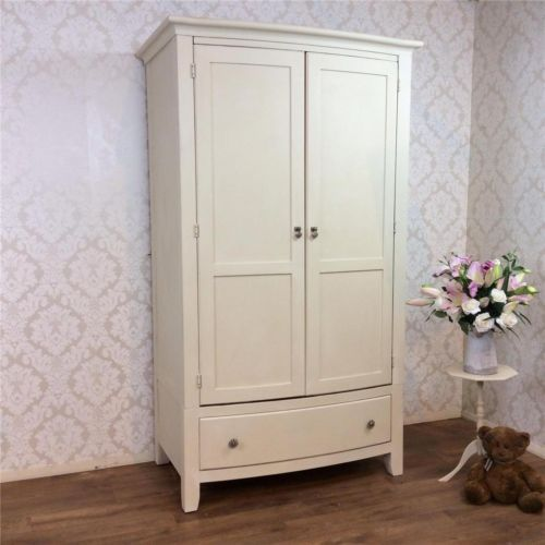 white wood wardrobe armoire shabby chic bedroom. Shabby Chic Double Wardrobe Armoire Painted Bedroom White French Louis Vintage In Antiques, Antique Furniture, Armoires/ Wardrobes Wood