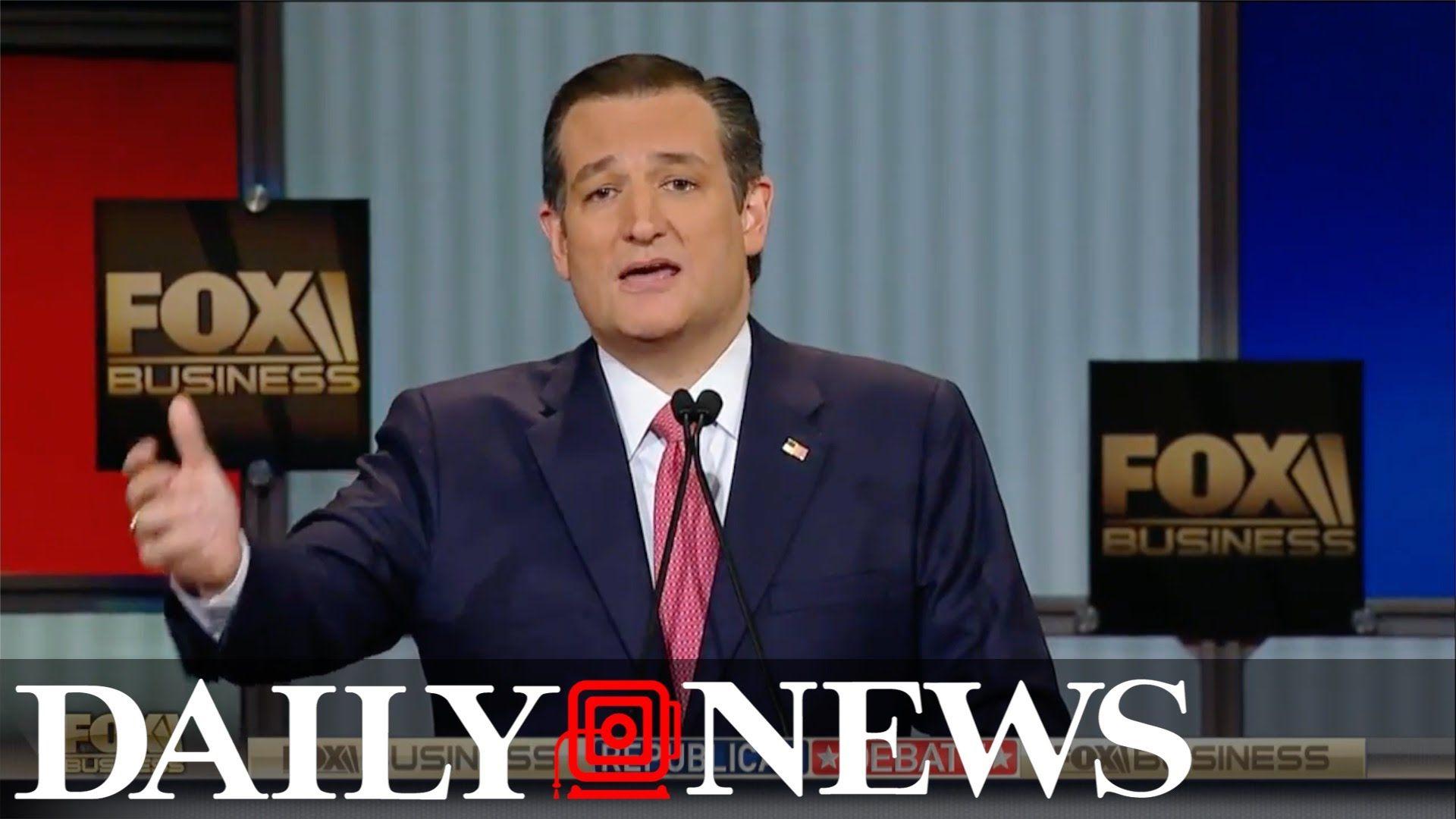 Ted Cruz insults 'New York' values at GOP debate