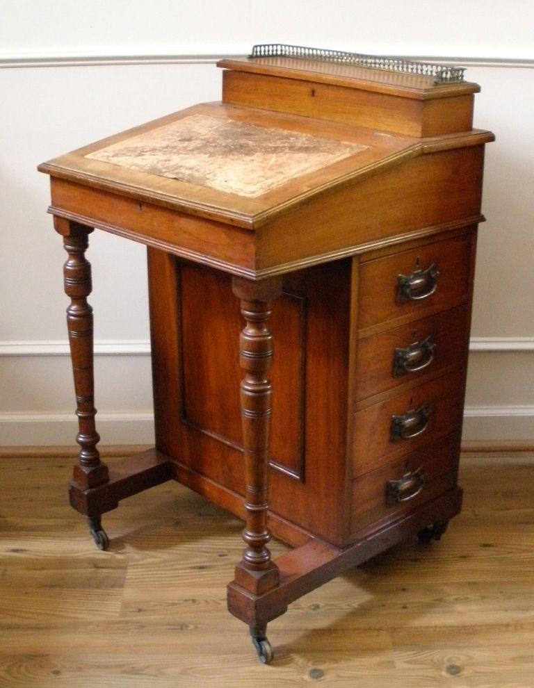 Antique English Walnut Davenport Bureau Desk. from streetsoflondonantiques  on Ruby Lane - Antique English Walnut Davenport Bureau Desk. From