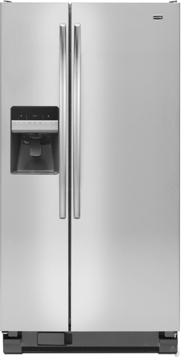 Maytag msfdxam cu ft side by side refrigerator with spill