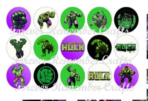 100 Mini Topper P Docinhos Hulk Aniversario Do Hulk