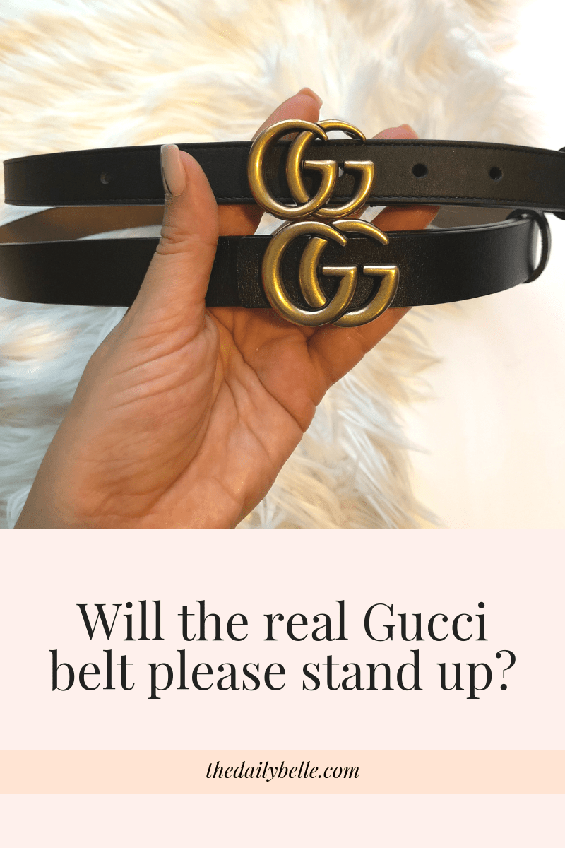 The Difference Between the Real Gucci Belt and the Fake