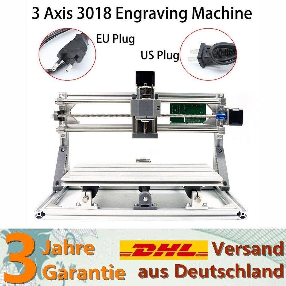 3 Axis 3018 Mini CNC Router Graviermaschine Fräsmaschine Graveur Fräse GRBL DHL