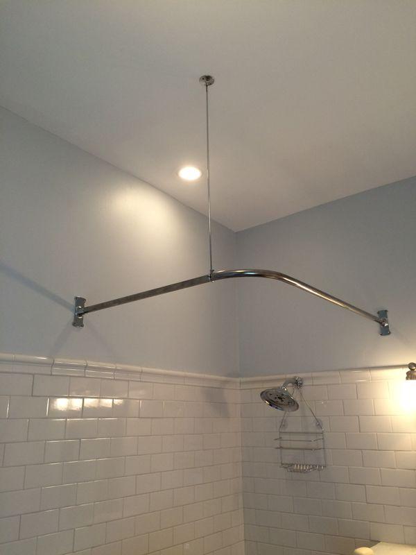 Corner Shower Rod - Used @ Gardner Farm Inn. 1\