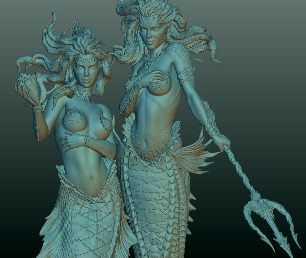 Poseidon's Twins, Ehren Bienert on ArtStation at https://www.artstation.com/artwork/qebvL