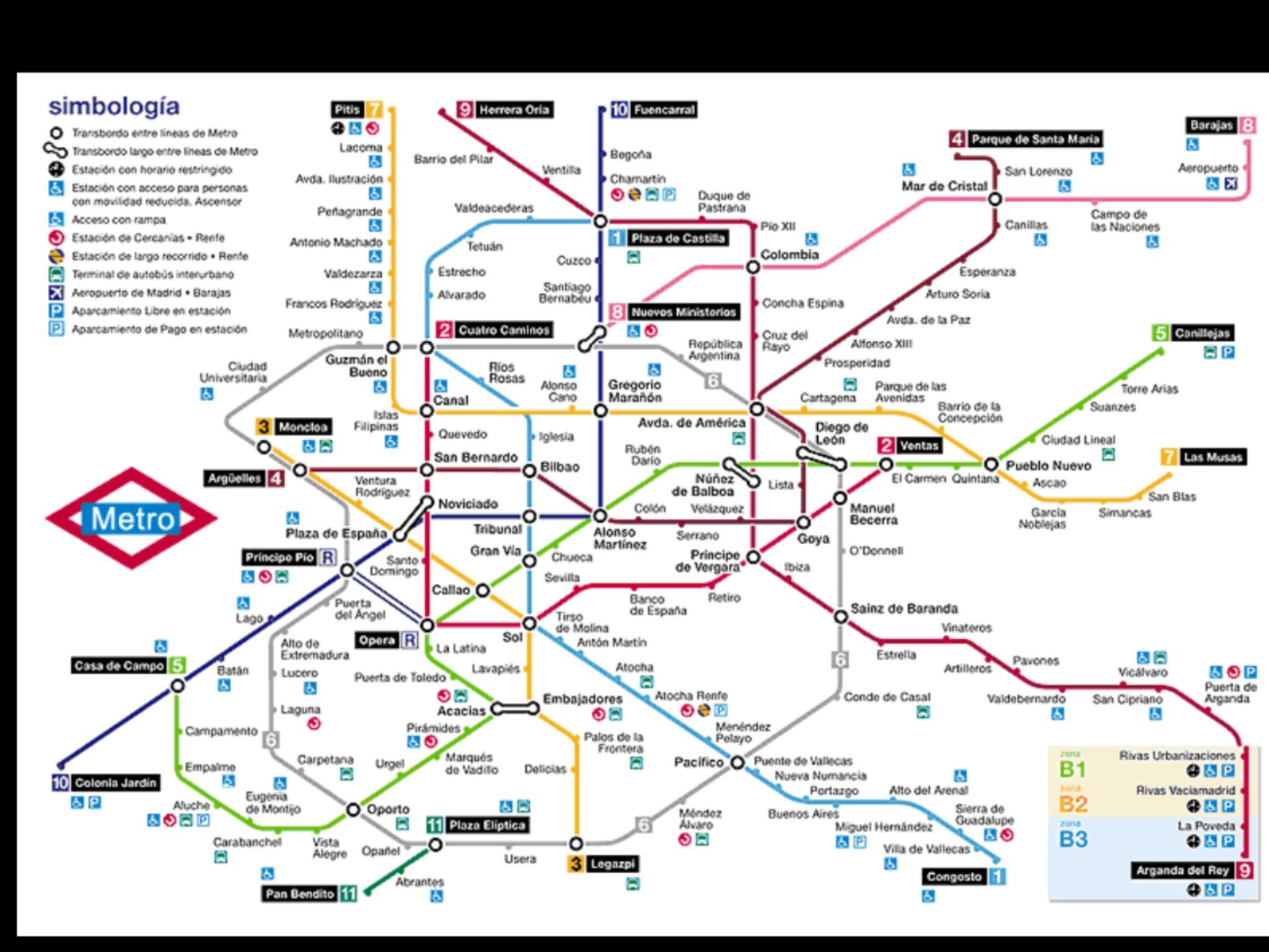 Plano Del Metro De Madrid La Mejor Red De Metro Del Mundo Maps