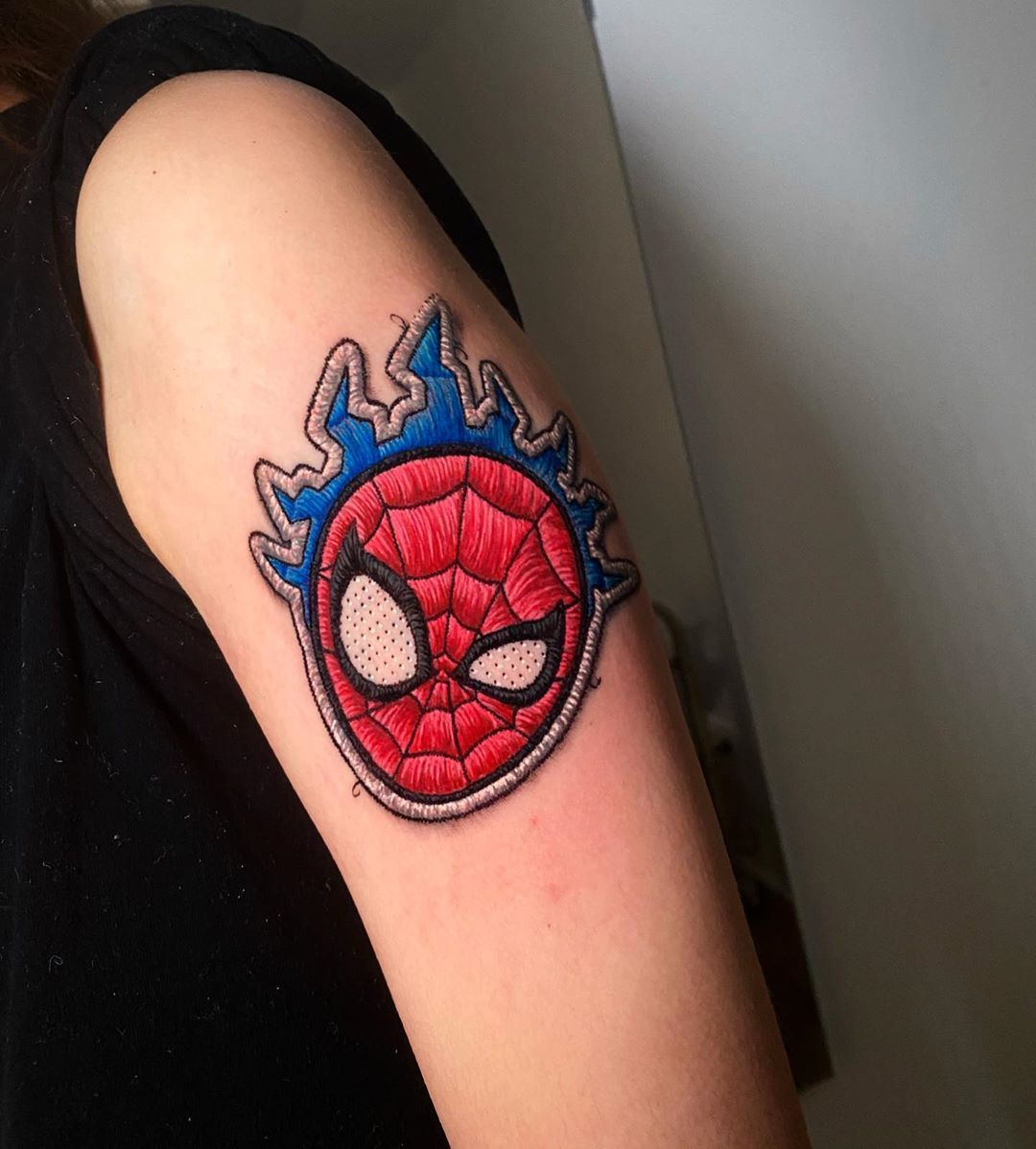 Artist Creates Embroidered Patch Tattoos That Look Like They Re Stitched Into Skin Embroidery Tattoo Flower Tattoo Designs Tattoos