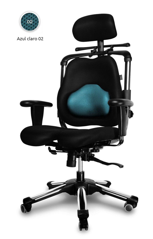 Silla ergon mica de oficina zenon para personas con for Sillas ergonomicas con apoyo lumbar