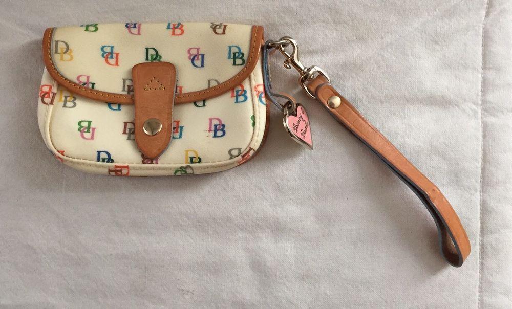 Dooney & Bourke DB Wristlet Pouch Bag W/ Detachable Strap & Heart Charm…