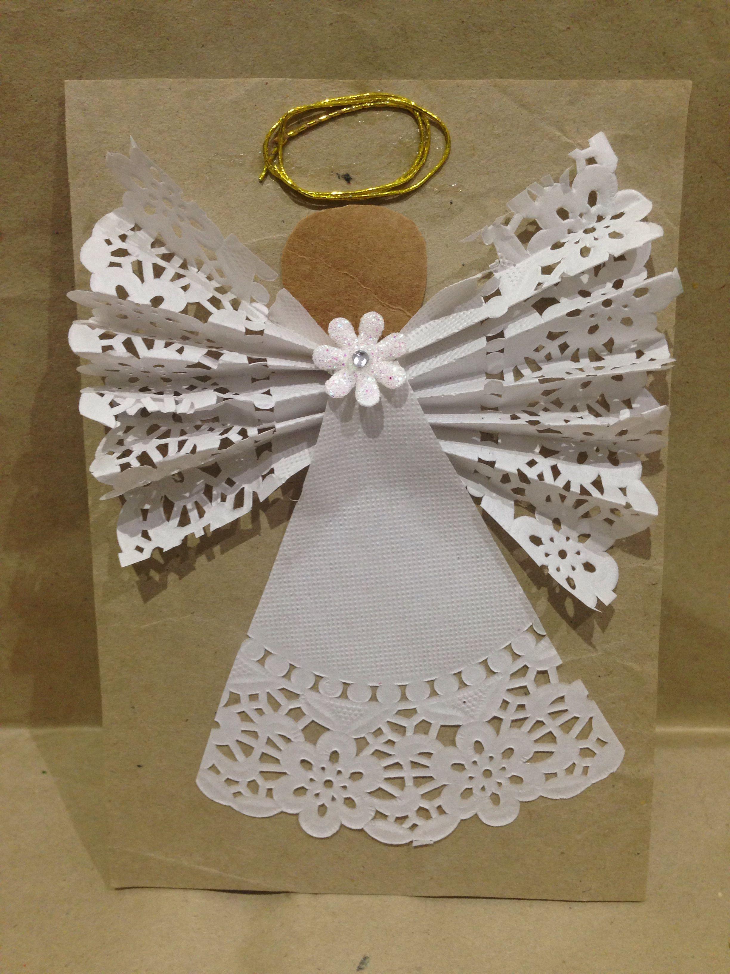 Christmas angel adornos de navidad navidad manualidades navidad y navidad reciclada - Decoraciones de navidad manualidades ...