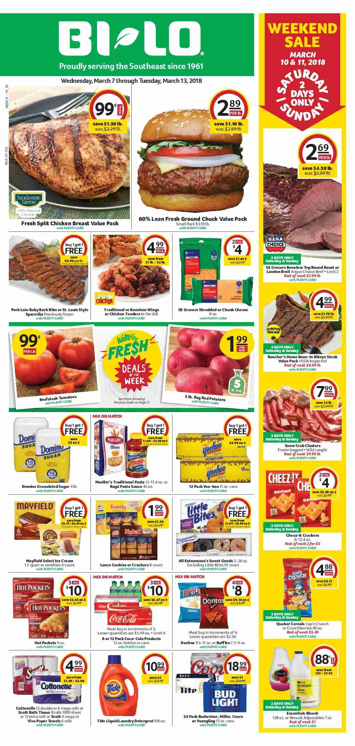 Bi Lo Weekly ad Flyer April 4   10, 2018 | Weekly ads and Ads