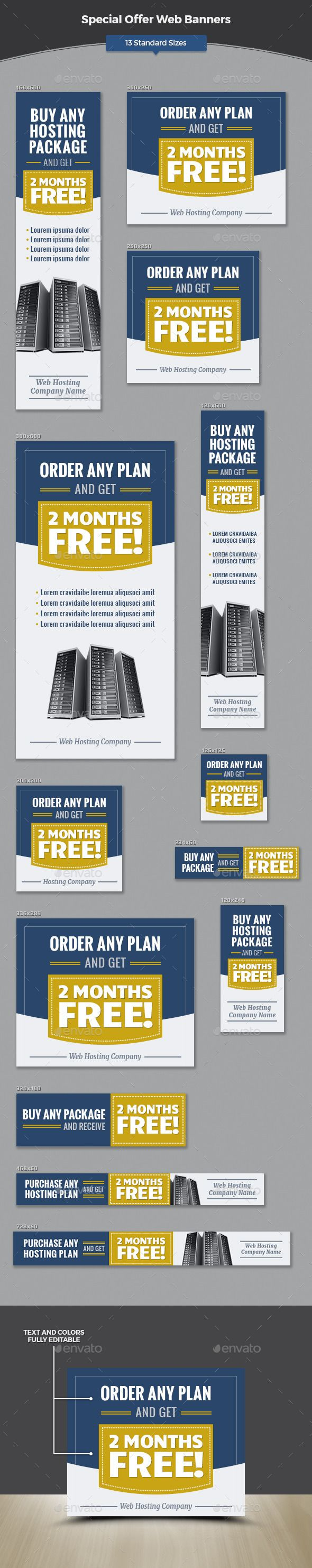 Special Offer Web Banners Template #design #web #ads Download: http://graphicriver.net/item/special-offer-web-banners/12688226?ref=ksioks