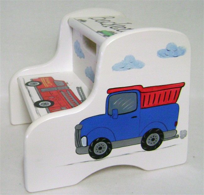 Truck Step Stool Hand Painted Step Stools For Kids