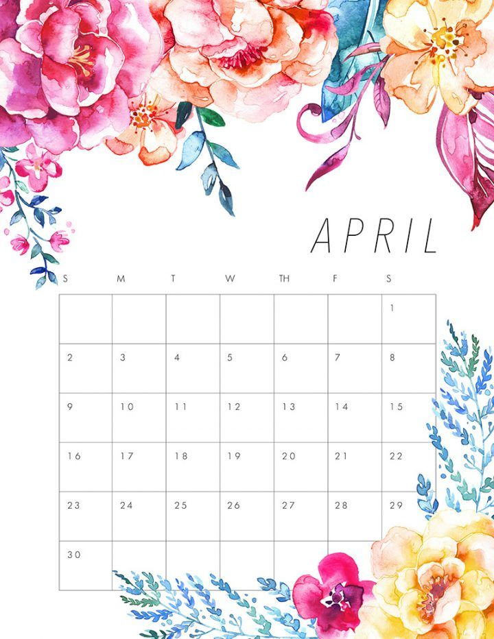 Excellent Free Printable 2017 Floral Calendar Products I Love Download Free Architecture Designs Scobabritishbridgeorg