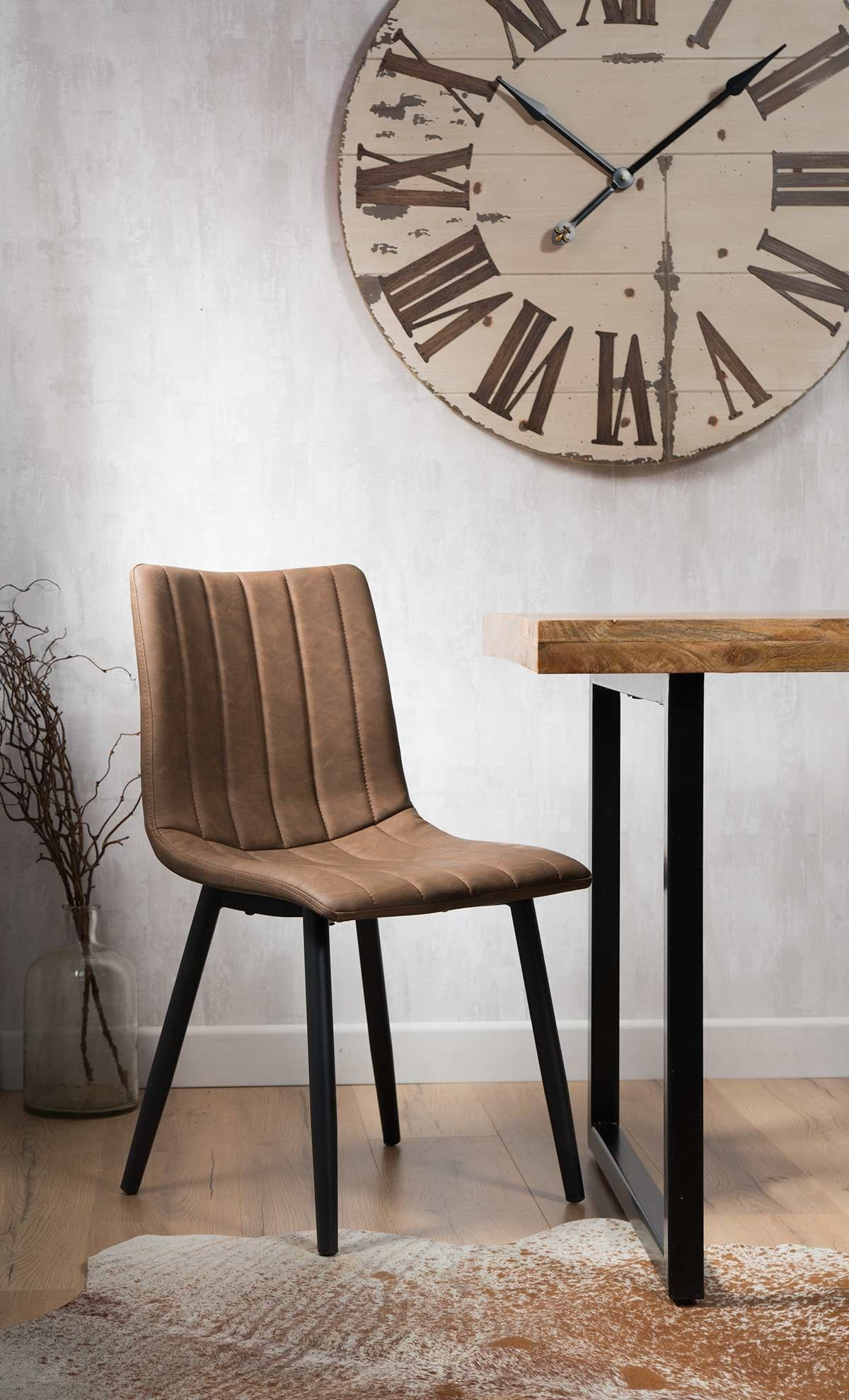 Arizona Leather Dining Chair Vintage Brown Casa Bella Furniture Uk Leather Dining Chairs Faux Leather Dining Chairs Dining Chairs