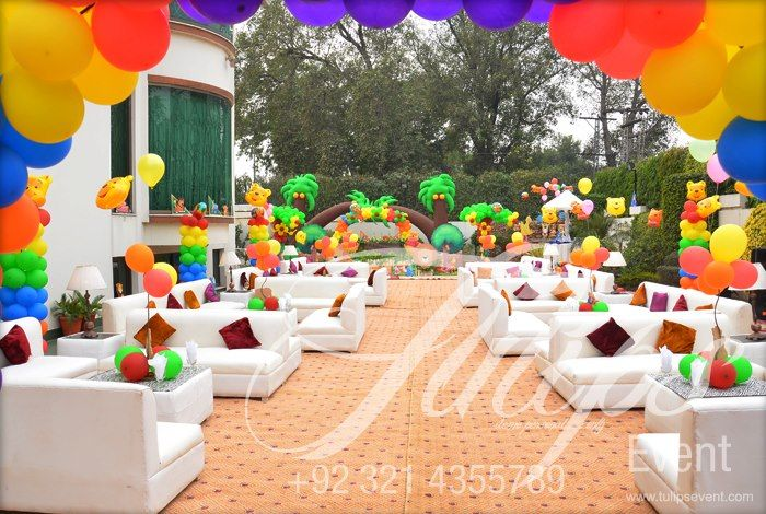 Grand Zoo Birthday Party Theme decoration outdoor setup Cantt