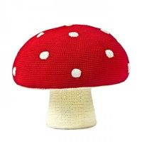 RED MUSHROOM KIDS STOOL. Classic Mushroom Pouffe | Unique Seat in Pouffe Design for Children | Kids Pouffe in Smurf Mushroom | Toadstool Seat for Kids