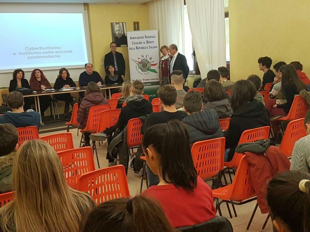 Vincere il bullismo si può: incontro dell'Ancri di Foligno con i ragazzi del Liceo Scientifico