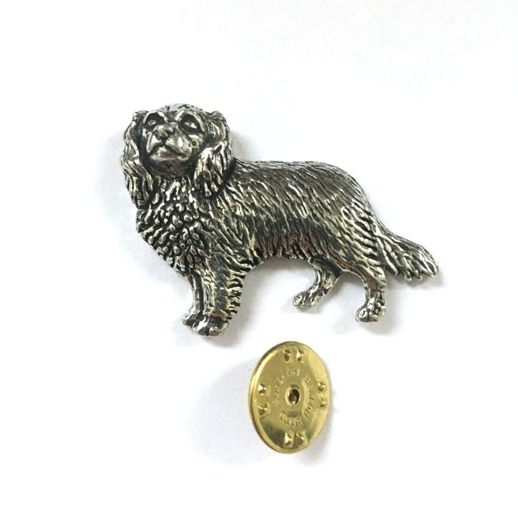 Great Pyrenees Brooch Pin Badge in Antiqued Copyrighted Pewter /& Gift Box Option