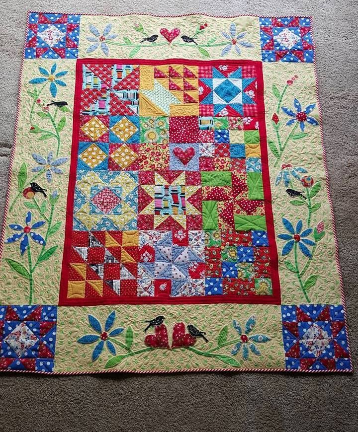 """TRY @AccuQuilt ! Barbie Robertson did. This is the first quilt she made with the GO! Qube 9"""" Block die set!"""